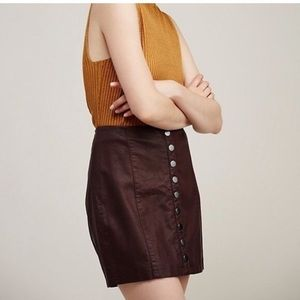 Free People Oh Snap Faux Leather Mini Skirt